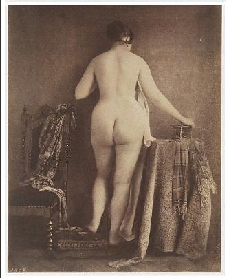 nu-perante-a-câmera-Julien-Vallou-de-Villeneuve-French-1795–1866