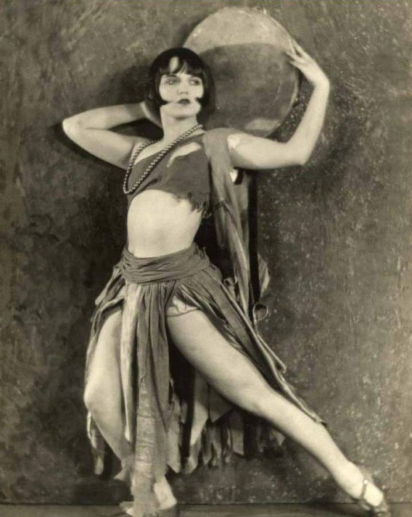 "Louise Brooks as she appeared in the ""Ziegfeld Follies"", photographed by Alfred Cheney Johnston"